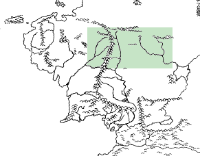 Morwinsky Map Third Age With Latitudes Cropped NW M e adventure area highlighted 20120709b