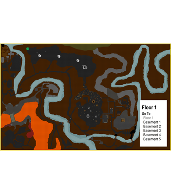 Goblin town dungeons Floor 1 Overview Map (unlabeled)