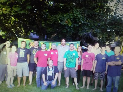 Hawke with players at Tolkien Moot X 20150710 234411