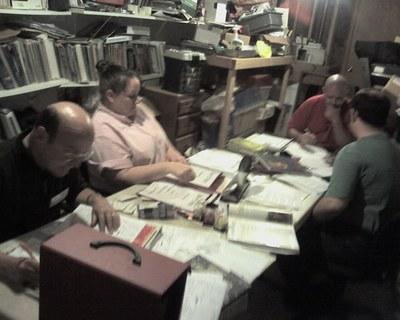Volunteers Making Characters Before MerpCon
