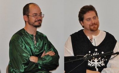 brian huseland and hawke robinson co hosting middle earth talk radio show at tolkien moot 2011