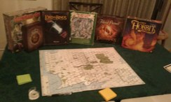 2014 Tolkien Moot X day 2 after hours board and card games.