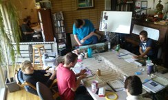 2014 Tolkien Moot X day 2, TOR RPG (Cubicle 7's The One Ring Role Playing Game) table.