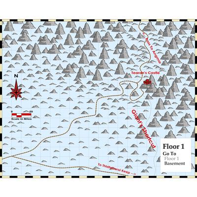 Tearan Castle Area Map 1 TolkienMoot XI Giants of the Ettenmoors A Giant Problem